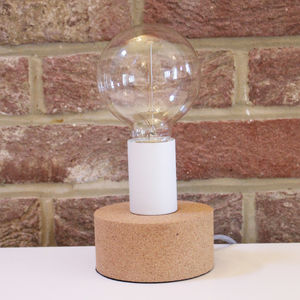 Cork Base Table Lamp