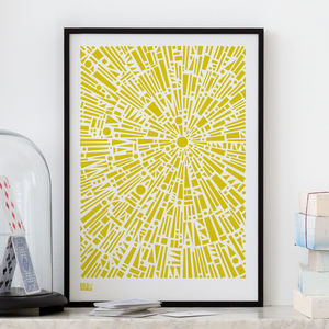 'Morning Light' Geometric Screen Print - posters & prints