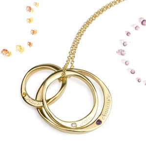 9ct Gold Three Infinity Rings With Gemstones
