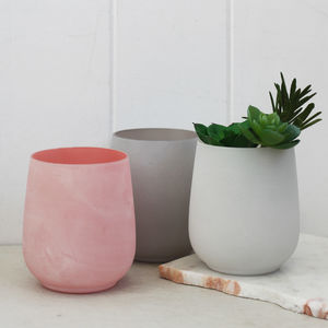 Pastel Coloured Glass Pot
