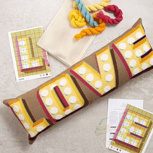 'Love' Cushion Cross Stitch Kit - living room