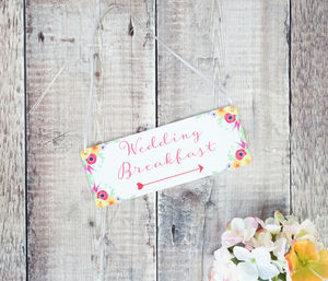 Personalised Summer Wedding Arrow Sign