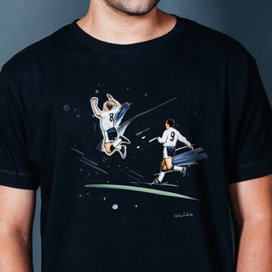 'Leaping For Joy' : Tottenham T Shirt - men's fashion