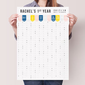 Personalised 2017 2018 Academic Wall Planner