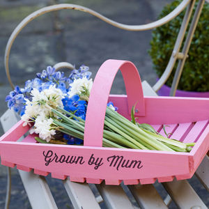 Personalised Garden Trug - 60th birthday gifts
