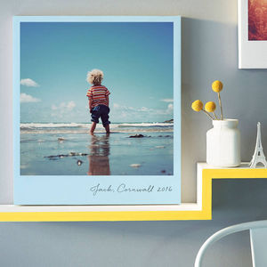 Colourful Giant Retro Style Photo Canvas