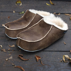 Mens Sheepskin Slipper Mules - men's fashion