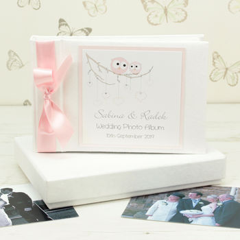 Personalised Owls Wedding Photo Album