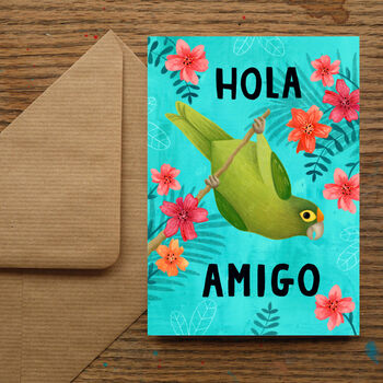 Hola Amigo Greetings Card