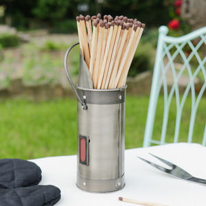 Antique French Matches Canister