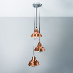 Copper Chandelier Pendant Light Shade - bedroom
