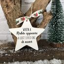 Personalised Christmas Robin Memorial Ceramic Star