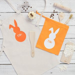 Personalised Childs Bunny Baking Set - baking