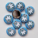 Set Of Cute Yeti 25mm Button Badges