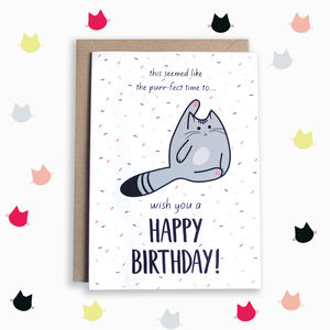 Birthday Wishes Cat Card - birthday cards
