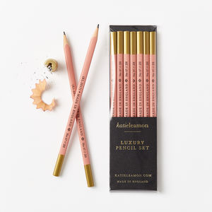 Dark Pink 2 H Pencil Set