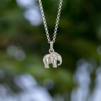 Children's Personalised Silver Elephant Necklace