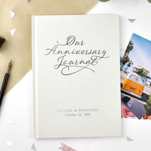 Luxury Personalised Anniversary Journal - 1st anniversary: paper