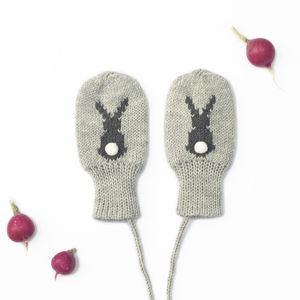 Bunny Mittens - cosy clothing