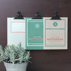 Set Of Three Workshop Notebooks - writing