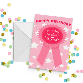 World's Best Mummy Nanny Auntie Sister Rosette Card