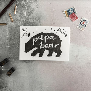 'Papa Bear' Letterpress Card - father's day cards