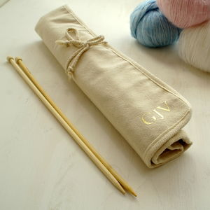 Personalised Knitting Needle Roll Case - storage & organisers
