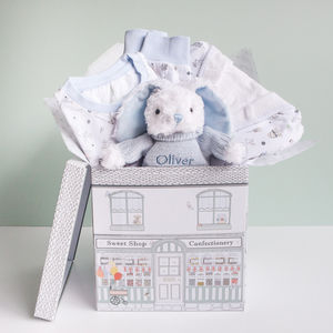 Personalised Baby Boy Bath And Bedtime Hamper