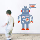 Personalised Robot Wall Sticker