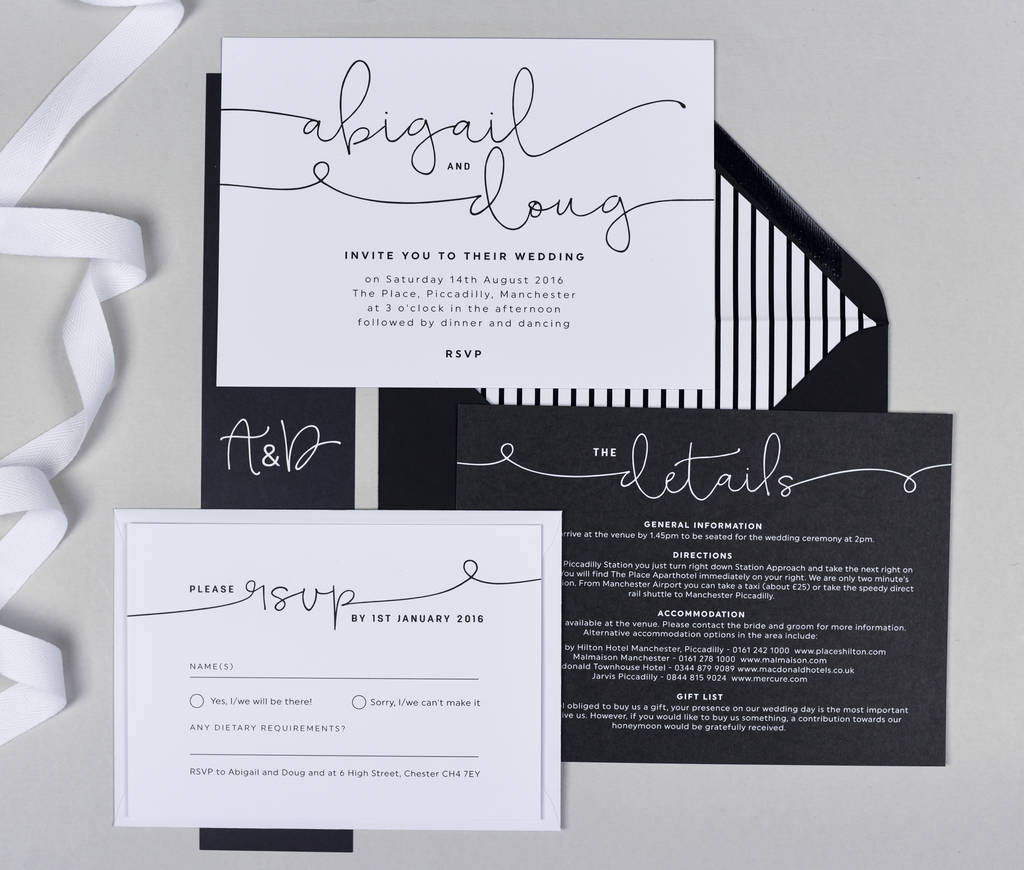kate wedding invitations by project pretty | notonthehighstreet.com