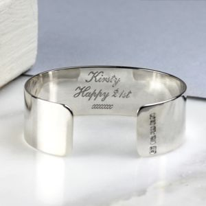 Personalised Silver Cuff - view all sale items