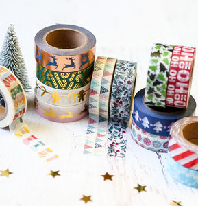 Festive Christmas Washi Tape - finishing touches