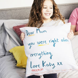 Personalised Dear Mum Message Cushion