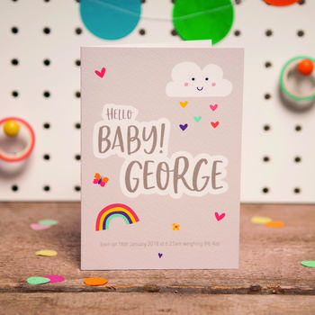 Personalised Hello Baby Card