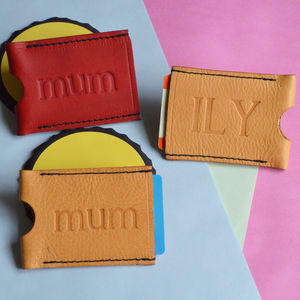 Personalised Mum Travel Card Holder