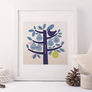 Family Pear Tree Personalised Print