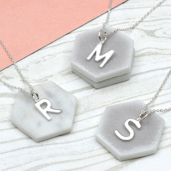 Personalised Sterling Silver Initial Charm Necklace