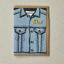 Denim Jacket Greeting Card For Dad