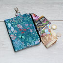 Botanical Meadows Silk Zipped Pouch Bag