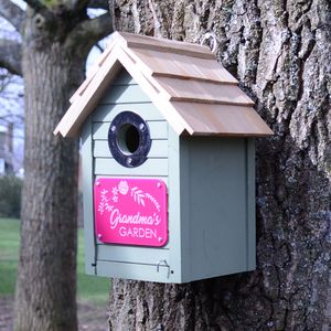 Green Personalised Birdhouse For Her - new in pets