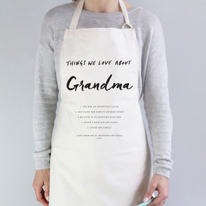 Things I Love About Grandma Apron