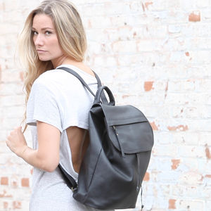 Leather Bata Large Backpack - gifts for her