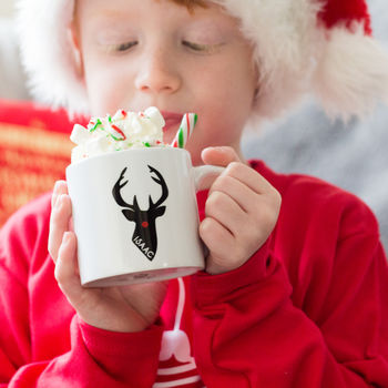 Personalised Kids Christmas Stag Mug