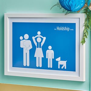 Personalised Family Poster - top 50 personalised art prints