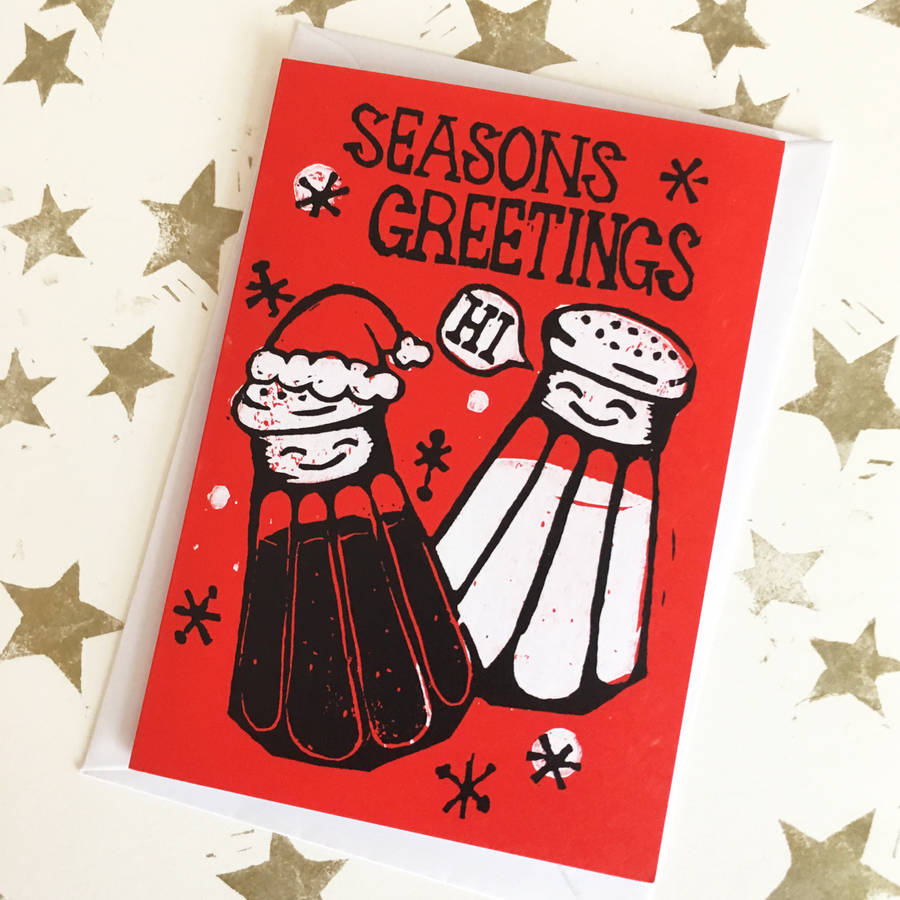 Funny Christmas Cards Packs Seasons Greetings Pun By Woah There
