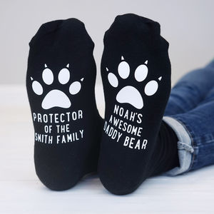 Personalised Daddy Bear Paw Socks - underwear & socks