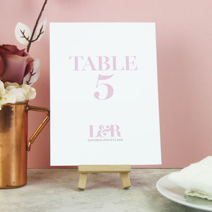'Millie' On The Day Wedding Stationery - table numbers