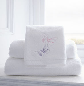 Butterflies Personalised Como Towel