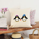 Personalised 'Penguin Love' Cushion