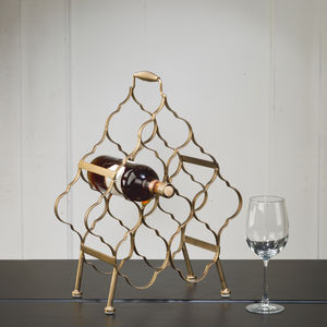 Antiqued Gold Wine Rack - view all new